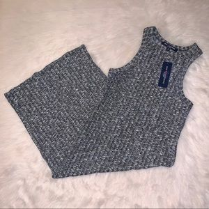 NWT One Clothing Gray&White Tank Top Sweater Dress